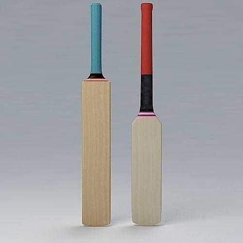cricket bat mongoose and standard 3d model max obj 3ds fbx lwo lw lws mtl 1
