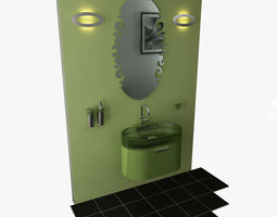 3D BathroomSet03