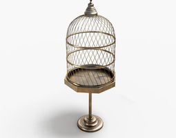 3D model AntiqueBirdcage2