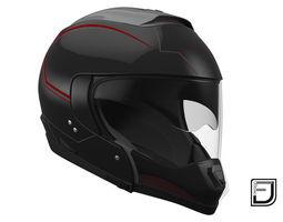 Black Modular Helmet 03 3D model