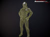 scifi-trooper lowpoly rigged 3d model low-poly rigged max obj fbx 3