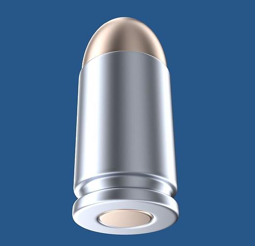 bullet 3d model obj mtl blend 1