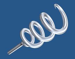 3d model corkscrew