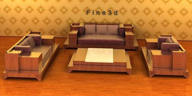 Living room set 04 007 3d model cgtrader for Joop living room 007