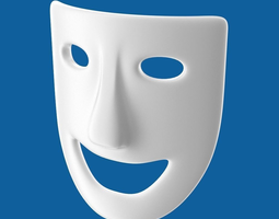 3d model theatre play laughing mask
