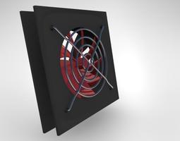3D asset PC cooling fan