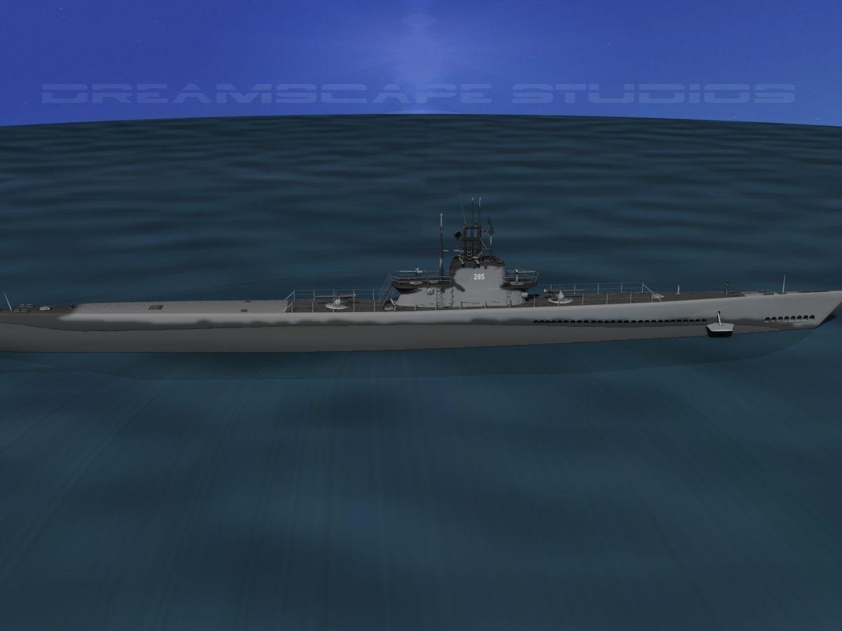 3d Model Balao Class Submarine Uss Balao Ss285 Cgtrader