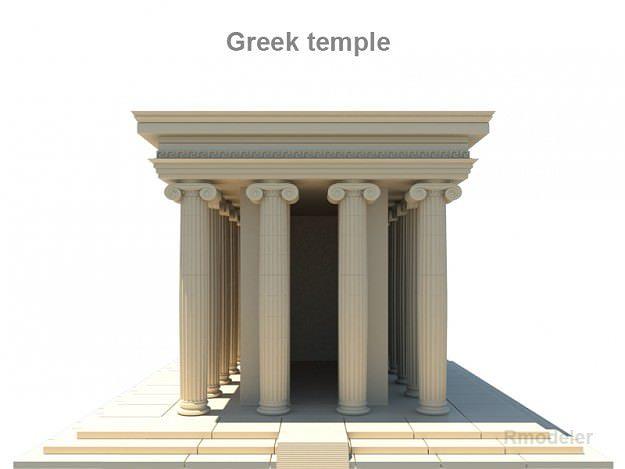 Greek Temple 3d Model Obj 3ds Fbx C4d Lwo Lw Lws Ma Mb 1