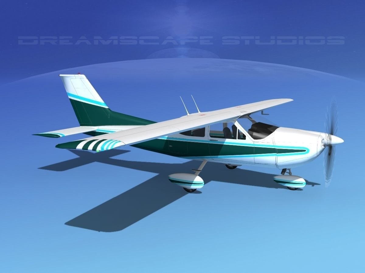 cessna  fg cardinal   model animated rigged max obj ds lwo lw lws dxf stl cgtradercom