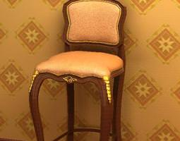 3d antique bar chair 08