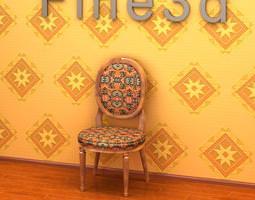 antique chair 08-098a 3d model