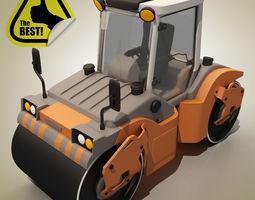 3D model Cartoon RoadRoller
