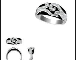 3d model diamond ring 81