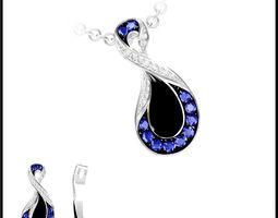 sapphire necklace 81 3d