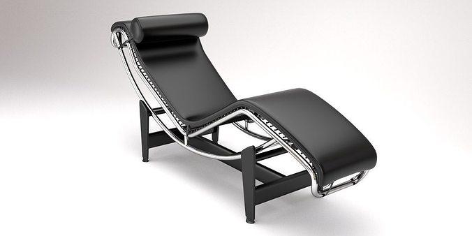 Lc4 chaise lounge design by le corbusier 3d model blend - Chaise classique design ...