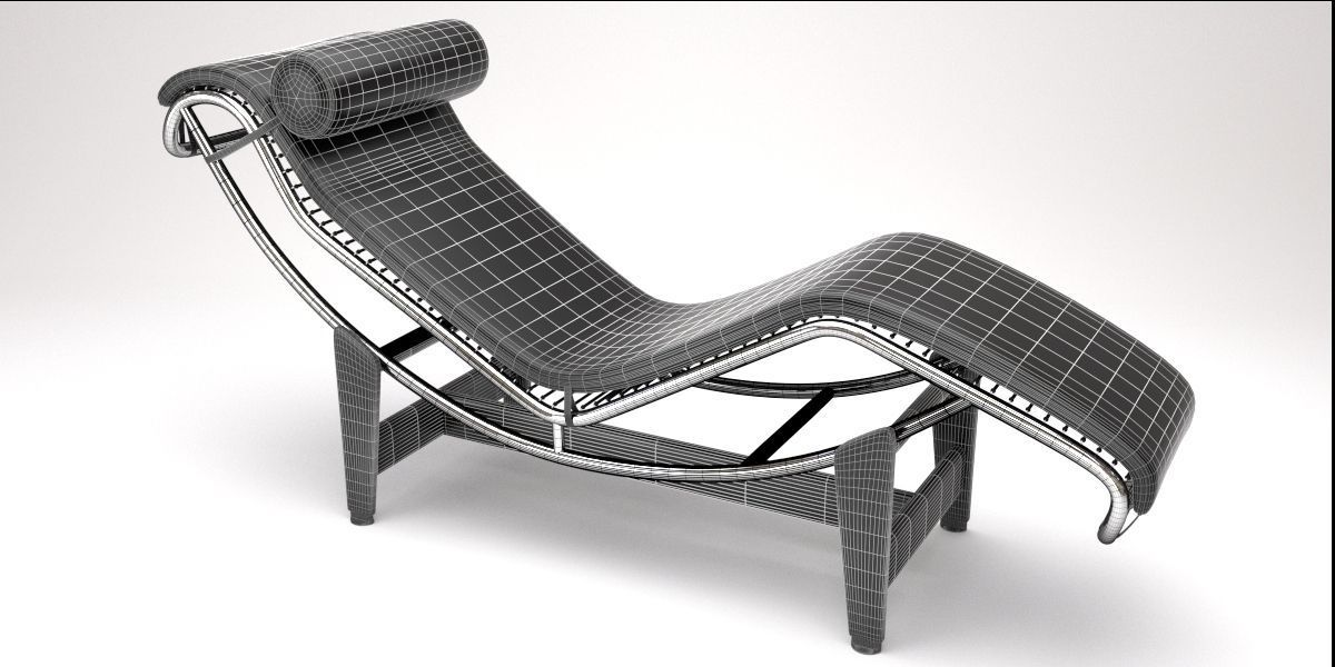 lc4 chaise lounge design by le corbusier 3d model blend. Black Bedroom Furniture Sets. Home Design Ideas