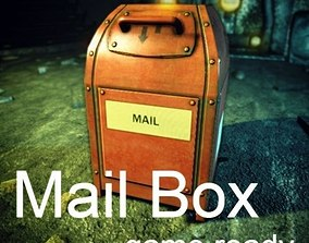 Mailbox 3D model low-poly