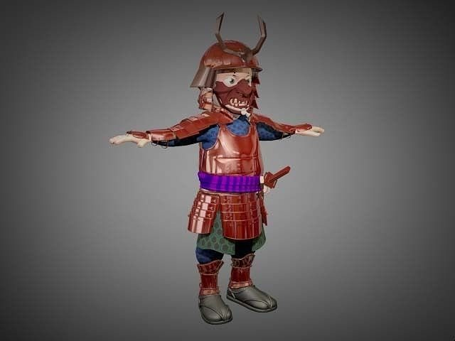 samurai 3d model cgtrader