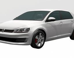 Volkswagen-golf-gti 2014 3D asset