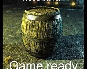 Wooden barrel 3D asset