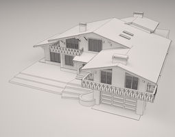 3D Chalet house