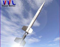 3d model aerobee 100 rocket