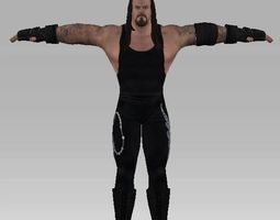 wwe all stars undertaker 2 rigged 3d model low-poly