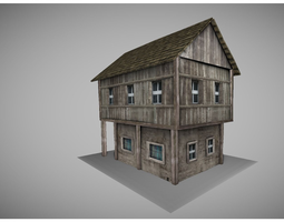 low-poly 3d asset low poly medieval house model