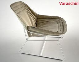 3D model Chapeau armchair by Varaschin