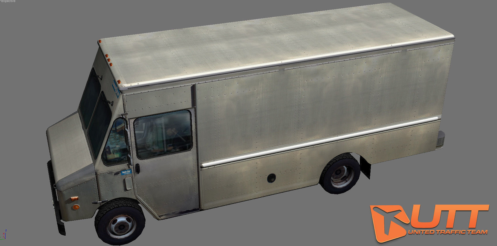 grumman truck bare metal 3d model game ready animated. Black Bedroom Furniture Sets. Home Design Ideas