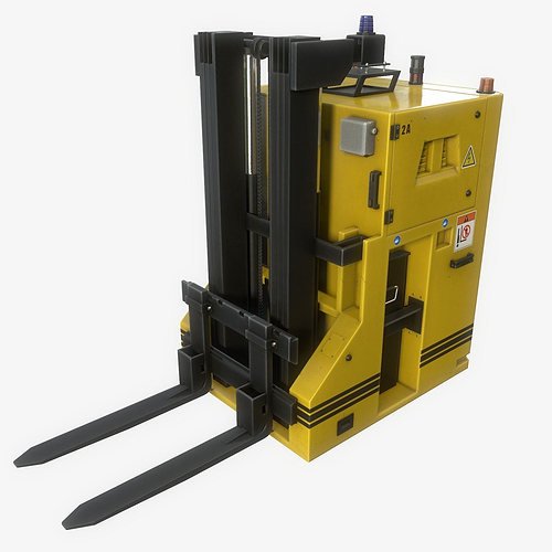 automated guided vehicle 3d model low-poly rigged max obj mtl fbx tga 1