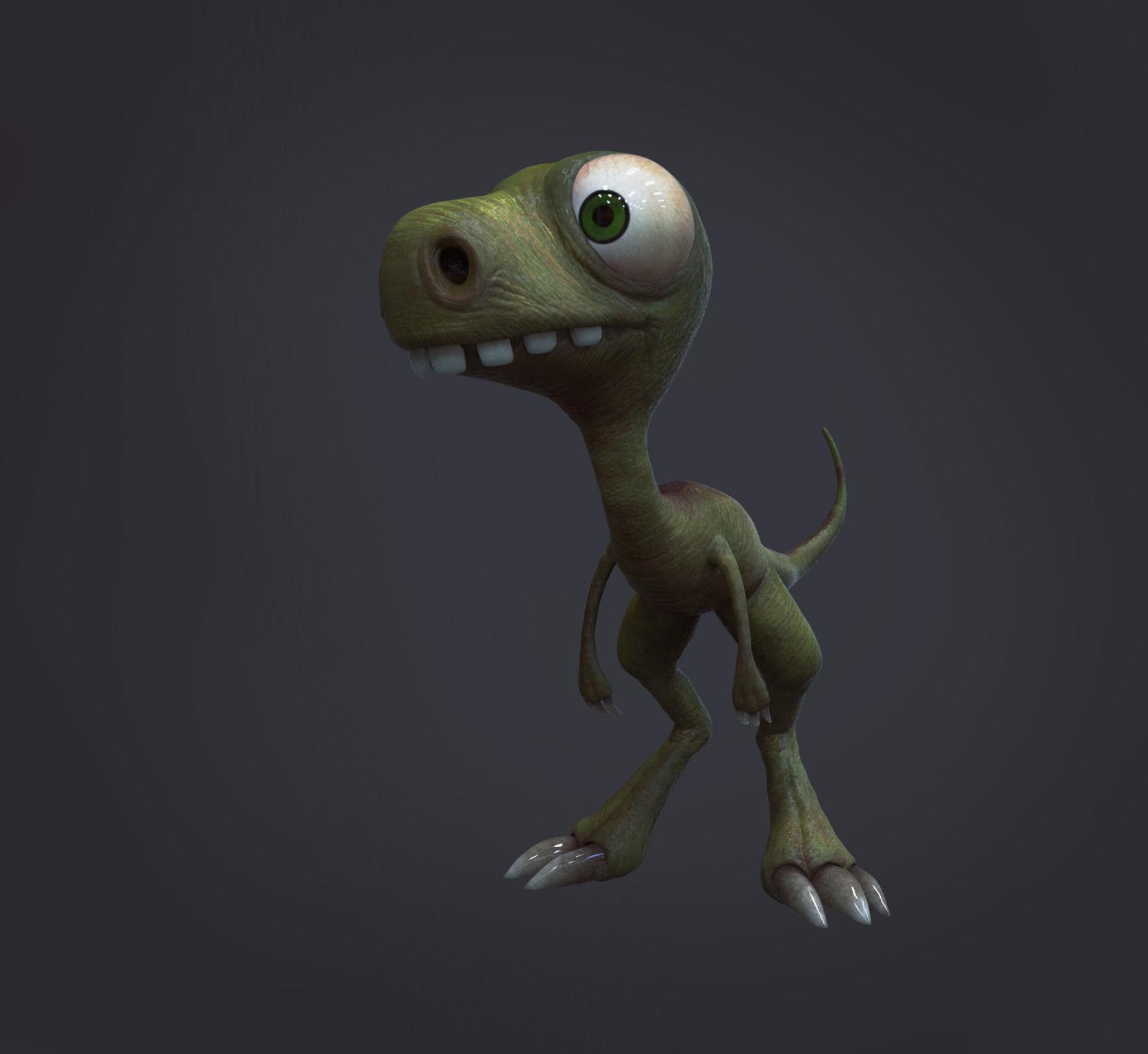 3D Model Stylized Dino