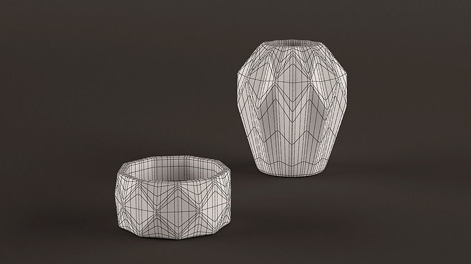 Origami Vases 3d Cgtrader
