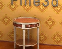 round side table 08-070 3d model