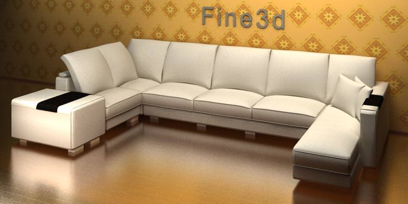 sectional sofa antique 09-056 sofa 3d model max obj 3ds 1 ... : antique sectional sofa - Sectionals, Sofas & Couches