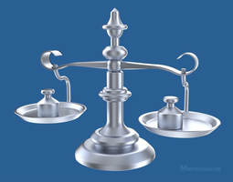 3d classic scale with weights
