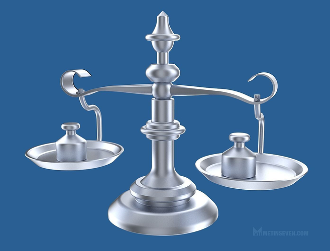 classic scale with weights 3d model obj mtl blend 1