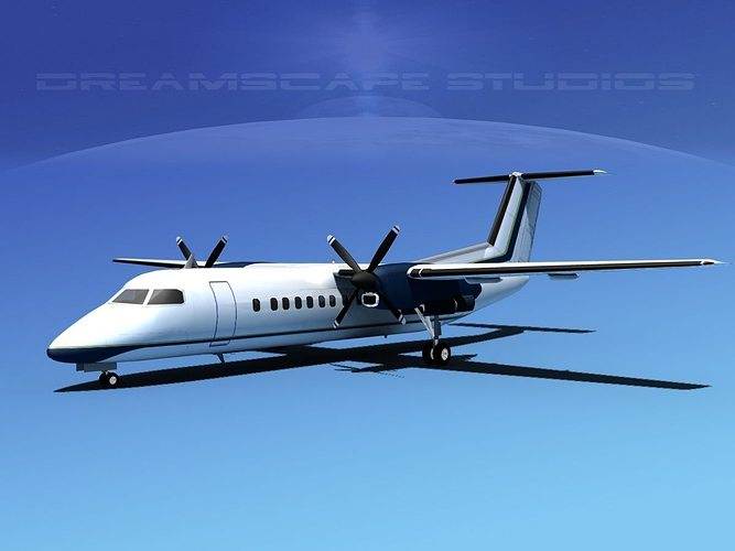 dehavilland dhc-8-q300 corporate 1 3d model max obj mtl 3ds lwo lw lws dxf stl 1