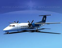 3D model DeHavilland DHC-8-Q300 Island Charters