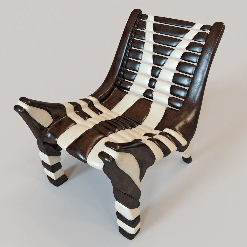 Charming African Chair 2 3d Model Max Obj Fbx Mtl 1 ...