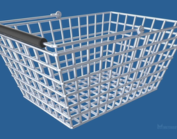object 3D Shopping basket
