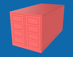 Shipping container 3D model