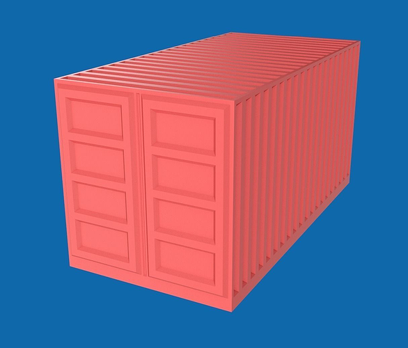 shipping container 3d model low-poly obj blend 1