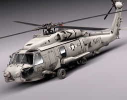 sikorsky sh-60 seahawk 3d model max obj 3ds fbx c4d lwo lw lws