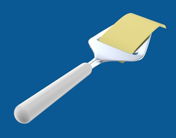 cheese slicer with cheese slice 3d model obj blend