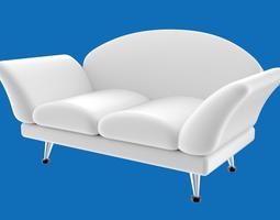 3d model sofa stylized or cartoony