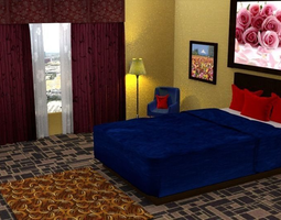 3d model hotel rooms