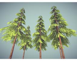 3D model pine tree
