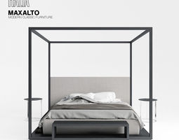 3d model maxalto alcova bed
