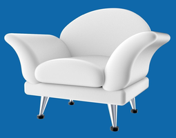 3d armchair cartoony stylized